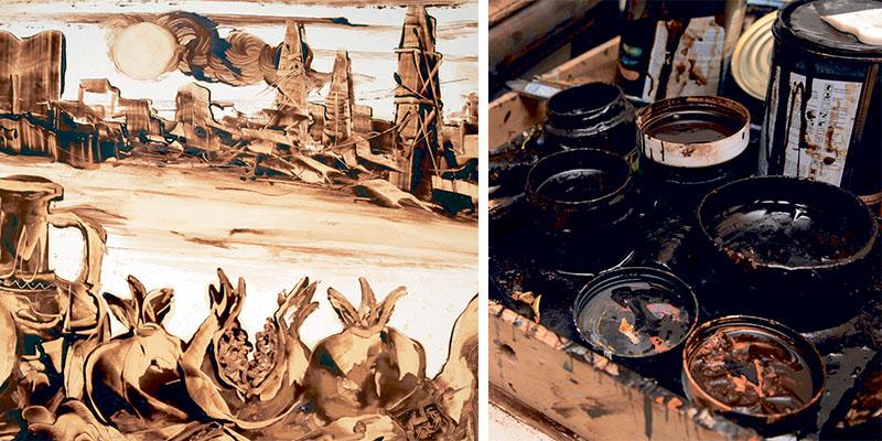 سوغاتی های باکو - نقاشی نفتی