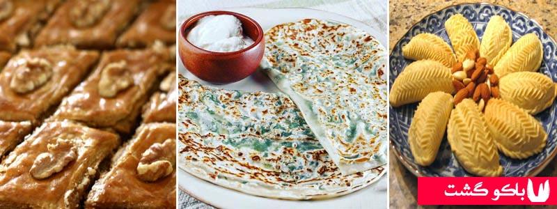 غذاهای باکو