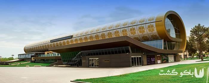 تور باکو | موزه فرش آذربایجان به شکل یک فرش لوله شده