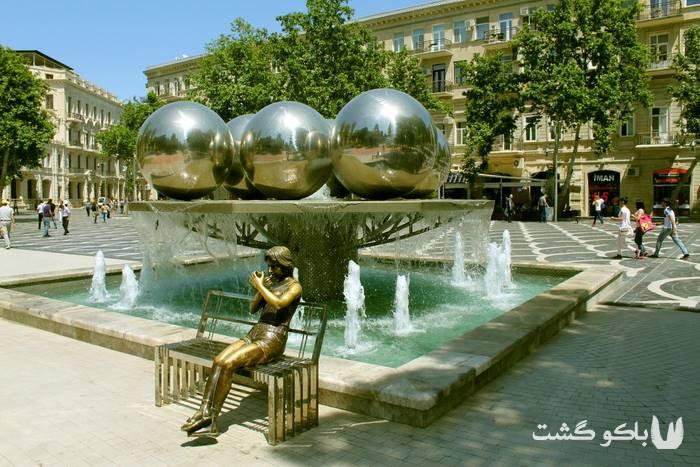 تور باکو | میدان فانتین ، میدان فواره ها در خیابان تارگوویی
