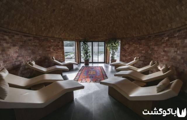 مجتمع حمام برای تفریح در باکو