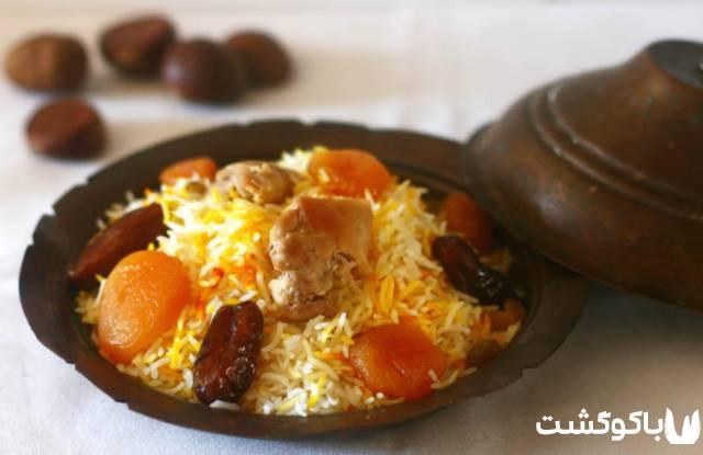غذا پیلاف (برنج) خوشمزه آذربایجان