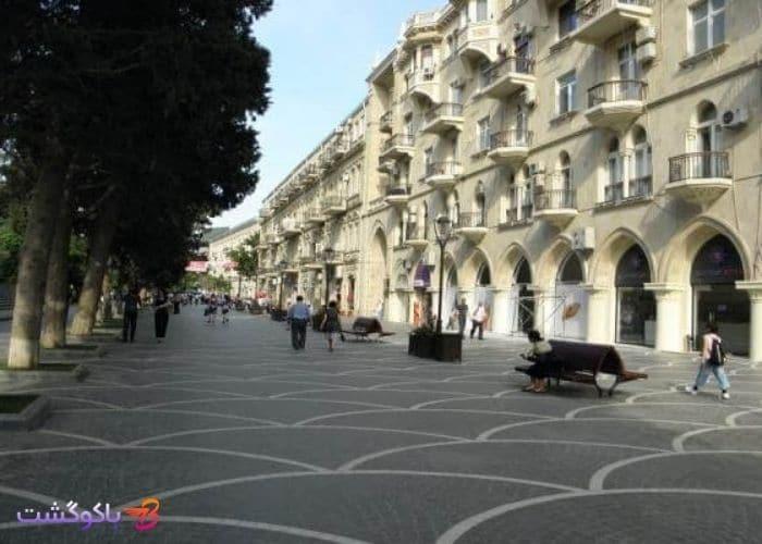 خيابان نظامي باكو یا خیابان تارگویی را بیشتر بشناسید